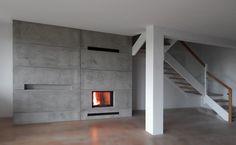 Beton architektoniczny na kominku