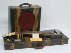 RARE Vintage Vega Triumphal Lap Steel Guitar w Matching Tweed Tube Amp | eBay