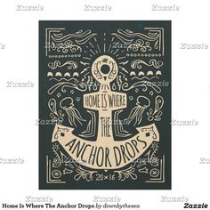 Home Is Where The Anchor Drops Wood Wall Decor