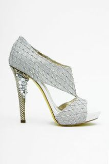 d2d2adaa90549 Versace Spring Summer - Embroidered Platform Sandal with Jeweled Heel
