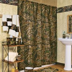 To create camo bathroom decor, you should consider these things below to get wonderful outlook of your bathroom. Camo bathroom decor is unique and it is perfect for you, because everyone is unique.