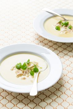 Greek Lemon Soup with Chicken and Orzo recipe – via Love & Olive Oil