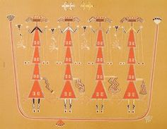The Navajo people are members of the largest Native American tribe in North America. Located in the Four Corners area of the United States. Native American Beliefs, Native American Artists, Native Americans, Sand Painting, Sand Art, Drawing Artist, Painting & Drawing, Navajo Women, Navajo People