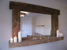 Large Reclaimed Rustic Driftwood Mirror by DriftwoodBeachcomber