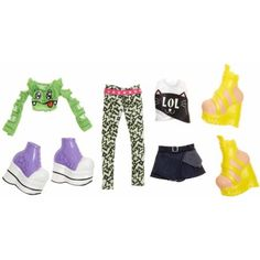 Bratz Deluxe Fashion Pack 2, Raya and Jade, Multicolor
