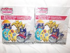 Angry Birds Transformer Easter Egg Decorating Kit X 2 Kits  #Hasbro