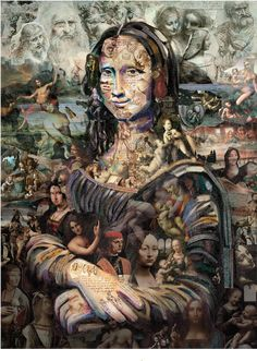 MONA LISA I Pintura Óleo Papel Machê Xilogravura is part of Mona lisa - Through a proposal of agency Communication Tif the Studio Alopra was invited to develop reinterpretations of famous Da Vinci´s painting, for Graphic Mona Lisa's digital campaign Lisa Gherardini, Illusion Kunst, Street Art, Mona Lisa Parody, Mona Lisa Smile, Tachisme, American Gothic, Italian Artist, Renaissance Art