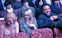 In this online-exclusive, the cast of the film talks about their fearless leader, who decided to tell a complicated story in the most complicated manner possible, giving the film's subtitle—The Unexpected Virtue of Ignorance—some additional meaning. Broadway Plays, Michael Keaton, Opening Night, Collaboration, Comedy, Tv Shows, It Cast, Actresses, Actors