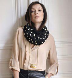 Modèle snood en jersey et noppes - Modèles tricot femme - Phildar