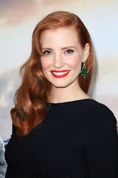 """The Hair Color Commandments Every Redhead Needs To Know #refinery29  http://www.refinery29.com/red-hair-color#slide4  Jessica Chastain   """"This is my favorite hair color,"""" says Friedman. """"I hardly know what to call it. I love that at the top it looks powdery and almost beige, and then towards the ends as it hits the sun, it becomes warm and fiery. There are all these interesting, subtle elements that makes it a beautiful shade."""" We should point out, however, that the sun altering your hair is…"""