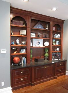 office built ins.  Or could be china cabinet with some modifications