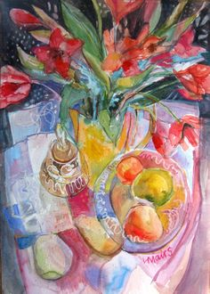 Watercolour with bell by Louise Mairs