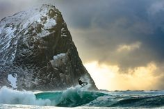SURFING IN A WINTER WONDERLAND - Dane Gudauskas, Norway. Photo by Chris Burkard. - Sundance Beach Blog