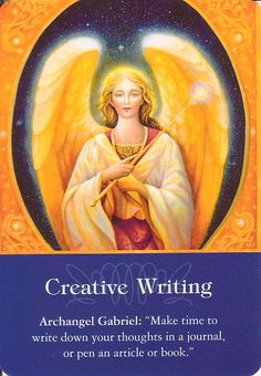 Got Angel?                                                       : Archangel Oracle Card for 9-17-15 Creative Writing...