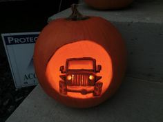 Jeep #pumpkin #carving
