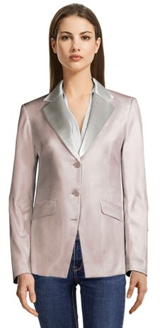 There are many opinions regarding Seersucker suits; some think it's not flattering, which sure, this can be true if you wear the wrong Seersucker suit. We're here to show you how to avoid these problems when wearing the right one. Blazers For Women, Suits For Women, Beige Blazer, Double Breasted Blazer, Striped Linen, Work Wardrobe, International Fashion, Seersucker, Fashion Looks