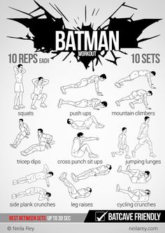 The Batman Workout. This could actually inspire me to workout, lol.