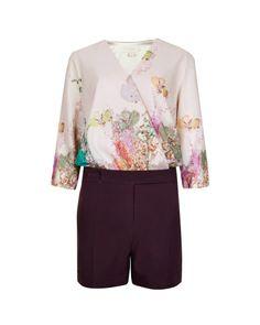 Wispy Meadow print romper - Light Pink   Rompers & Jumpsuits   Ted Baker