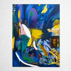 SATURDAY NIGHT STREET LIGHTS, 830 x 1110 mm Street Lights, Saturday Night, Contemporary Paintings, Gold Foil, Original Paintings, Abstract Art, Colour, The Originals, Canvas