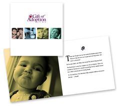 A brochure targeted for donors highlighted the personal and emotional stories of families and their adopted children, and provided specific next steps to support the organization. Adopted Children, Adopting A Child, Families, Adoption, Movie Posters, Gifts, Organization, Presents, Film Poster