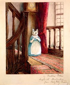 Beatrix Potter, 'Tabitha Twitchit searches for Thomas', 1908, watercolour. Linder Bequest: LB 787, © Frederick Warne & Co. 2012