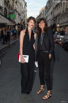 Saskia de Brauw et Emmanuelle Alt lors de la Vogue Fashion Night Out 2014 à Paris, le 16 septembre 2014.