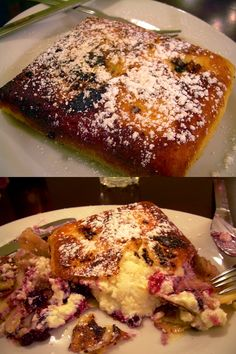 Cheese and Blueberry Blintz