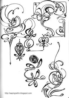 art nouveau dragonfly tattoo - Google Search