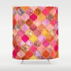 Hot Pink, Gold, Tangerin… Shower Curtain