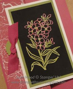 Stamp with Susie: Another 'Souther Serenade' Black Magic Technique