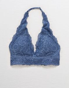 719504badbd Aerie Sunburst Lace Padded Halter Bralette by American Eagle Outfitters