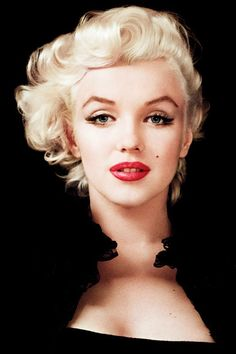 Marilyn Monroe's Crimson Lips and Not Giving Up on Life