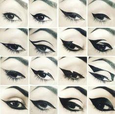 Shop Kat Von D& Tattoo Liner. Explore more of Kat Von D& collection of. Makeup Eye Looks, Eyeliner Looks, Cute Makeup, Makeup Art, Eyeliner Pencil, Makeup Ideas, Black Eyeliner, Gel Eyeliner, Makeup Tips