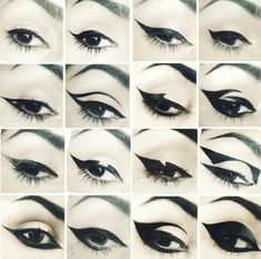 Kat von d makeup Me being such a huge fan of wearing liquid eyeliner these are some awesome designs!