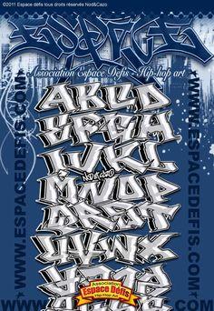 6 - Alphabet graffiti block style - Vous avez choisi celui-ci ! participez au sondage en votant le N° 6