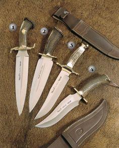 Cuchillos Muela Rehalero, Serreño, Alamo y Apache cuchillos de monte.