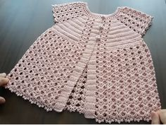Construction Of Robal Baby Vest With Wat - Diy Crafts Crochet Baby Sweaters, Crochet Baby Shoes, Crochet Clothes, Party Wear Frocks, Baby Boy Cardigan, Baby Coat, Crochet Girls, Crochet Blouse, Filet Crochet