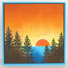 Lovely as a Tree card by Heather Telford.... sunrise or sunset depending on where you are!