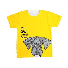 Natural Merle Great Dane - The Dog Table All-Over-Printing Tee