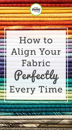 Sewing Tips: How to Align Fabric Correctly Aurora Sisneros provides unique tips on how to align your fabric correctly. learn how to use your fingernails like claws to scratch over your fabric. Use this technique at home to ensure your fabrics are aligned. Sewing Hacks, Sewing Tutorials, Sewing Crafts, Sewing Tips, Sewing Ideas, Sewing Basics, Basic Sewing, Sewing Blogs, Leftover Fabric