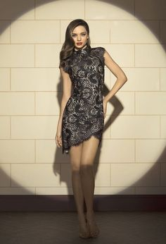 Want this lace dress!! Who else loves it?? David Jones A/W 2013 campaign #mirandakerr #fashion #lace