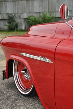 It took three trucks and a lot of time and energy to find the perfect recipe for this 1955 Chevy Rolling Detroit steel wheels Truck Rims, Chevy 3100, Chevy Pickup Trucks, Classic Chevy Trucks, Gm Trucks, Chevy Pickups, Chevrolet Trucks, Chevrolet Impala, Cool Trucks