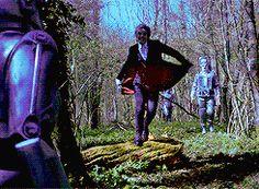 Twelve battles the cybermen in the Doctor Falls.