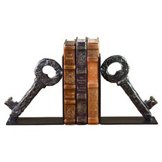 Lost Key Bookend (Set of 2)