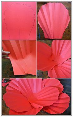 Tutorial flores gigantes de papel - DECORACIÓN FIESTAS