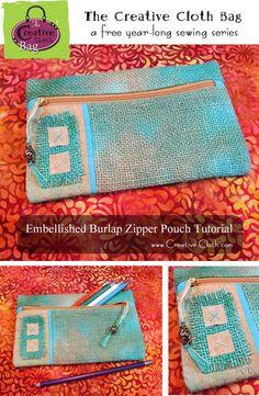 Embellished Burlap Z