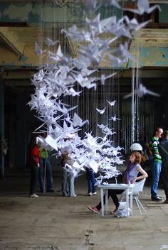 White Birds installation