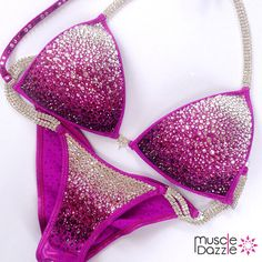 MuscleDazzle Store - Magenta Crystal Competition Bikini (CB058), $290 (http://www.muscledazzle.com/pink-crystal-competition-bikini-cb033/)