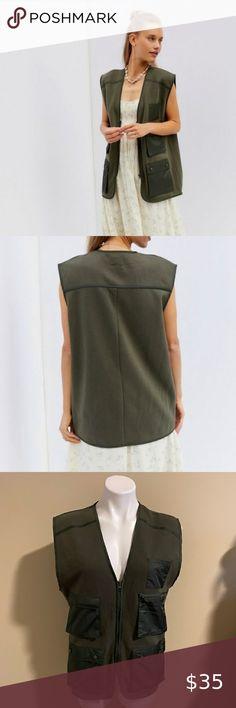 Green Ladies Vests Animal Layers Vest