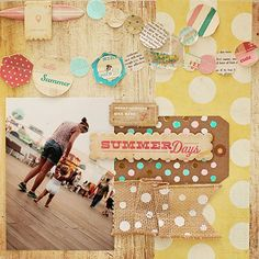 Fabulous layout from the Pier Collection #cratepaper #thepier #scrapbooking